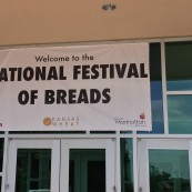 The National Festival of Breads greeted visitors with this sign, sponsored by Visit Mahattan.