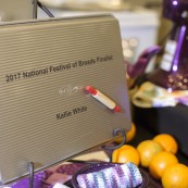 Finalists were presented with these customized pans, provided by USA Pan.