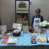 Sharon Davis, Home Baking Association, is always a popular presenter at the event.