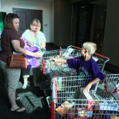 Canned goods were collected as a donation to the Flint Hills Breadbasket