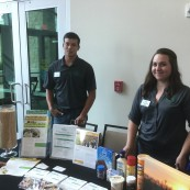 Kansas Soybean interns man the booth for the 2017 NFOB sponsor.