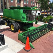 A scale model John Deere was on hand outside for the guests at the BBQ portion of the event to enjoy.