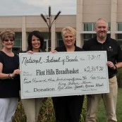 The National Festival of Breads was able to donate more than $2,300 to the local Flint Hills Breadbasket.