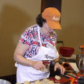 Ronna Farley baking the 2017 NFOB Champion, Seeded Corn and Onion Bubble Loaf