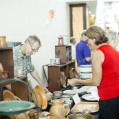 Festival goers were able to shop with multiple vendors, including Elk Falls Pottery