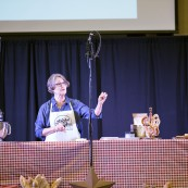 Sharon Davis, Home Baking Association, giving a presentation at the 2017 National Festival of Breads
