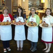 Food blogger finalists with their breads. Left to right: Suzy Neal, Shauna Havey, Merry Graham, Kristin Hoffman.