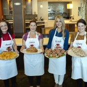Home baker finalists with their breads. Left to right: Brenda Watts, Lauren Katz, RaChelle Hubsmith, Tiffany Aaron.