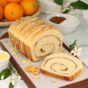 Photo: Cinnamon Swirl Orange Bread.