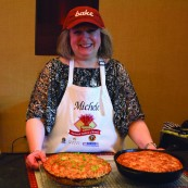 Michele Kusma with her 2017 NFOB finalist bread, Mexican Street Corn Skillet Bread