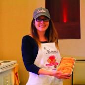 Shauna Havey with her 2017 NFOB finalist bread, Butternut Romesco Braid