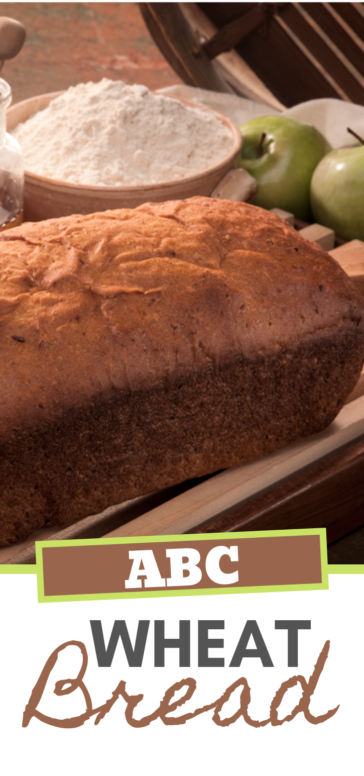 ABC Wheat Bread is a simple, delicious bread recipe that your family will love!