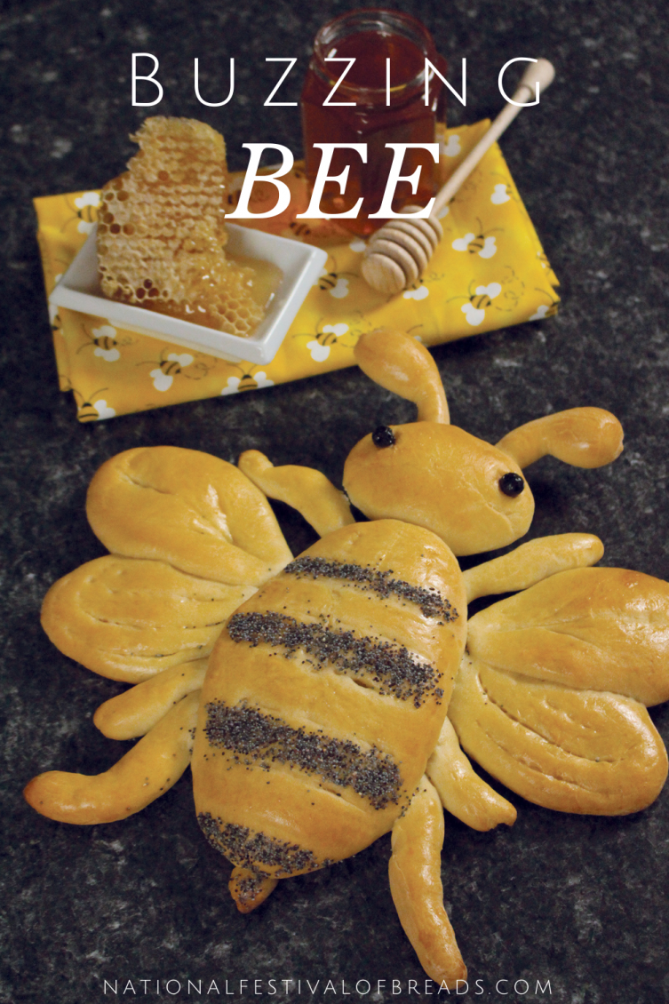 This Buzzing Bee Bread is an adorable addition to a summer time party! We've got step-by-step instructions for this show stopping pollinator pal.