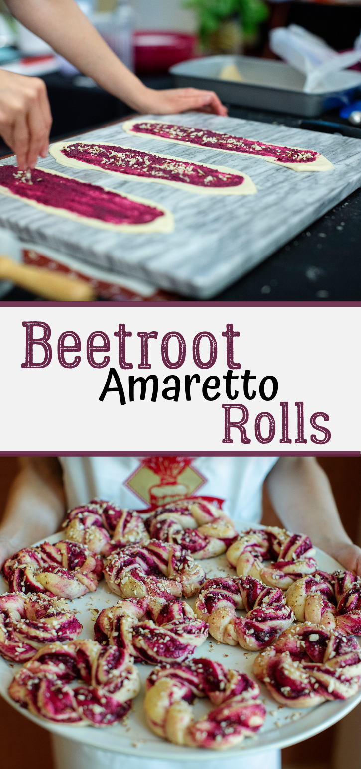 You'll see heart eyes for DAYS with these Beetroot Amaretto Rolls! (Or at least as long as they last!) This gorgeous, simple roll recipe is sure to be the talk of the town.