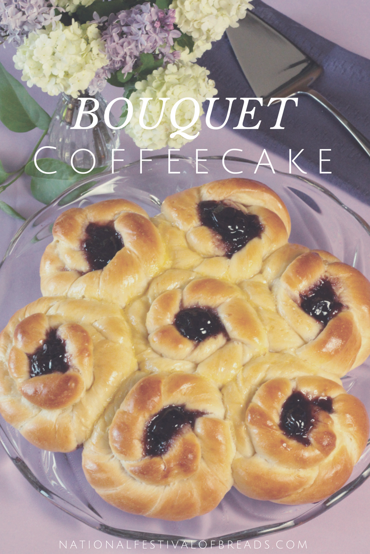 Looking for the perfect snack for your kiddo's tea party? Or wanting to impress your new neighbors? This Bouquet Coffeecake is the perfect option! We also have step-by-step photos to help your creation come to life!