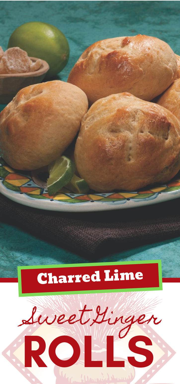 Charred Lime Sweet Ginger Rolls are a delicious addition to any dinner menu!