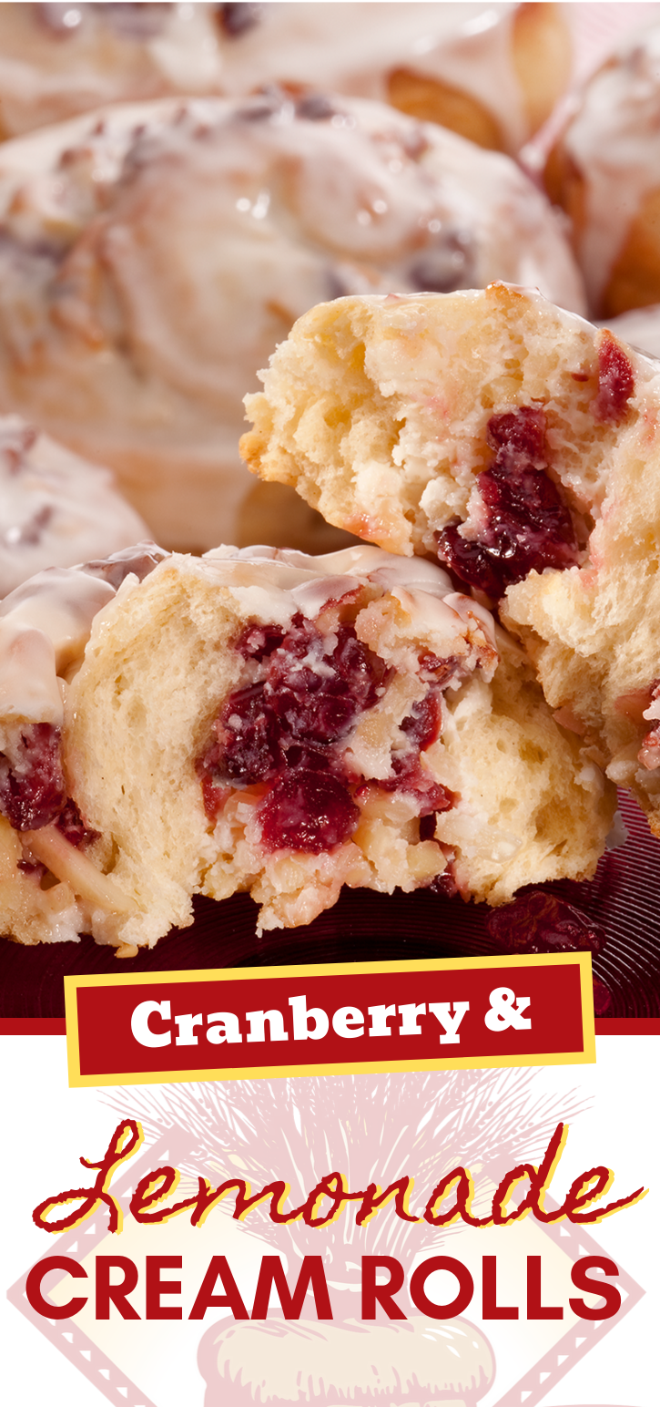 Oh sweet heavens! These rolls are a delightfully tart treat!