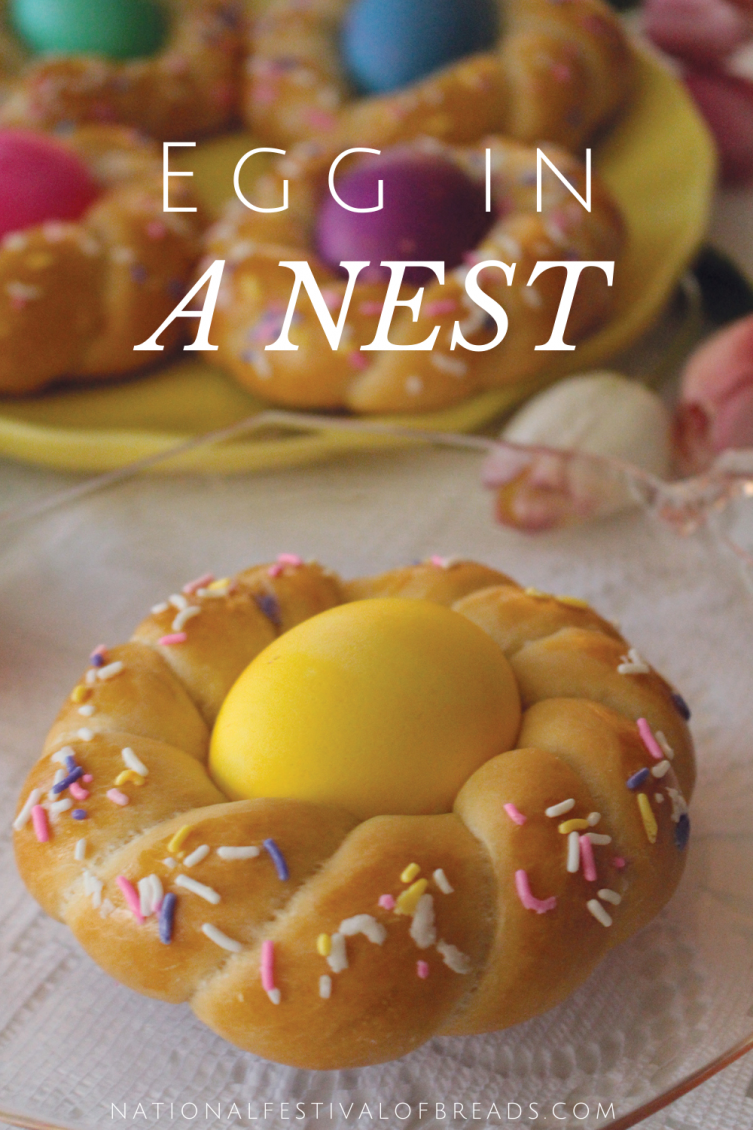 The Egg in a Nest is a beautiful, traditional Easter roll shape! Take a look at the step-by-step photos on how to craft your own spring-time showstopper.