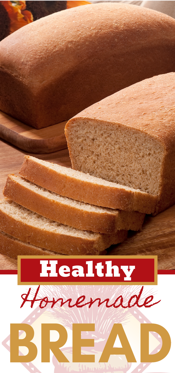 A healthy whole wheat bread? Yes please!