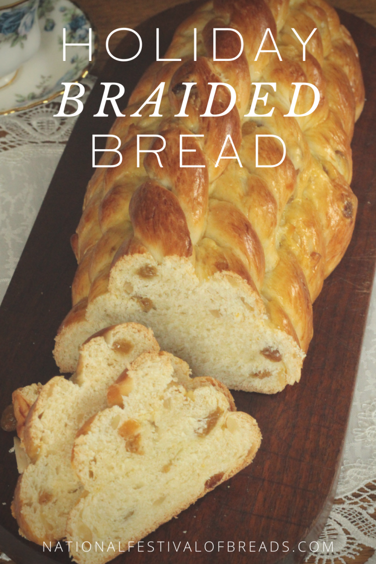 This GORGEOUS Holiday Braided Bread will be the showstopper at your holiday celebrations! Based on a traditional Houska recipe, this delicious spectacle is sure to impress.