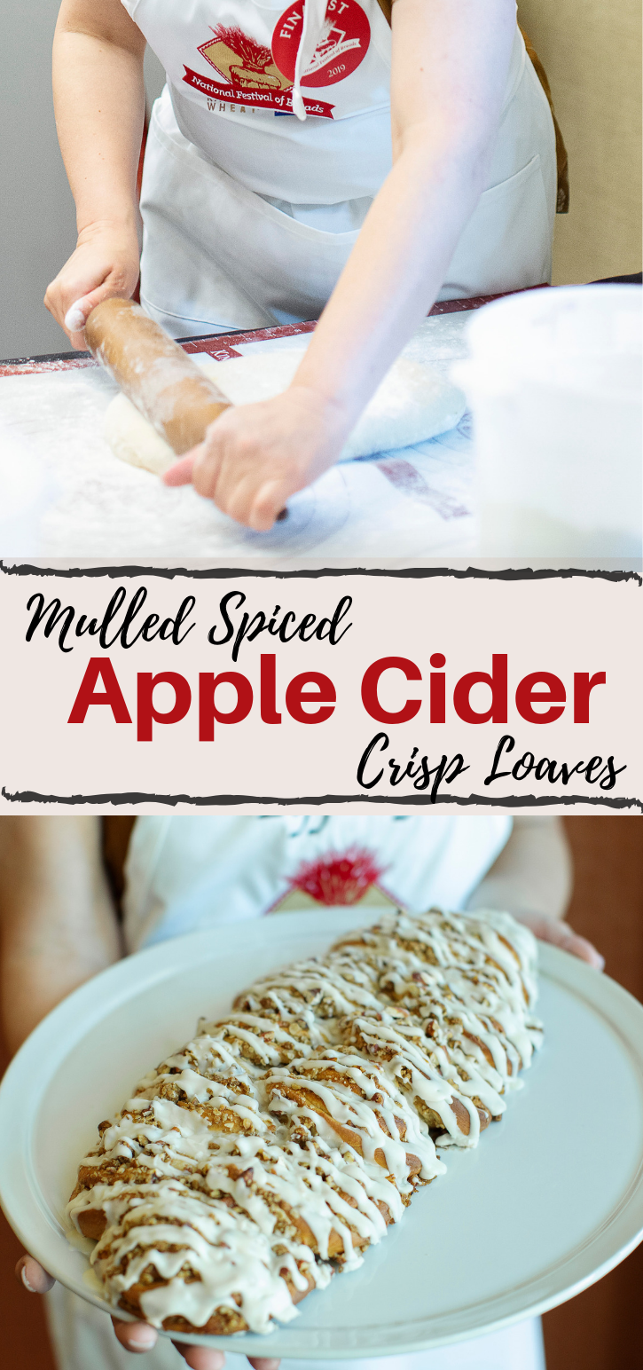 The flavors of fall in a single bread recipe! The Mulled Spice Apple Cider Crisp Loaves are perfect for autumn lovers that aren't down for a PSL.