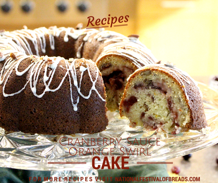 Cranberry Sauce Orange Swirl Cake