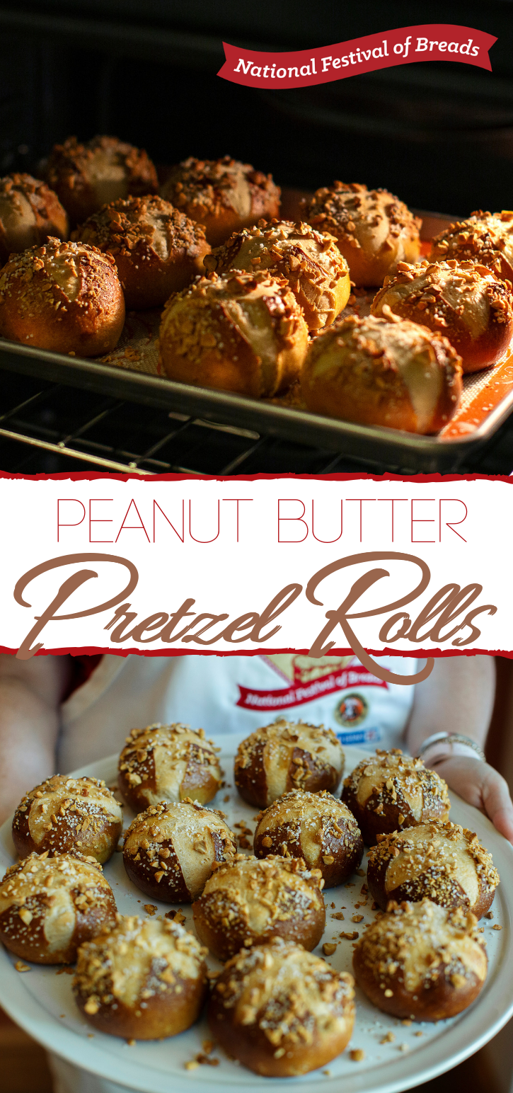 Peanut Butter Pretzel Rolls are your kids' new favorite lunchtime snack! Every kiddo will be jealous of a school packed lunch that includes these bad boys!