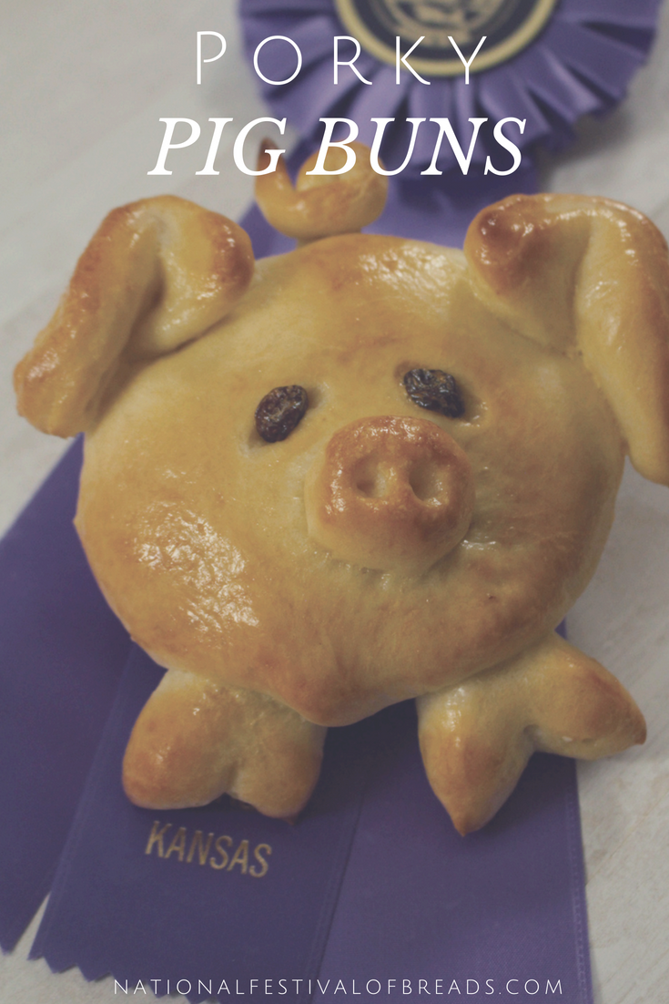 Porky Pig Buns are an adorable addition to your summertime meals!