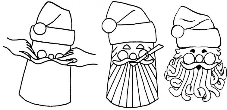 Image: Shaping Smiling Santa.