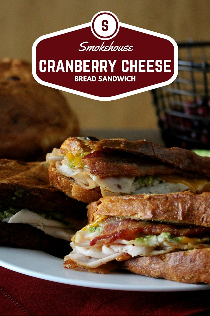 Smokehouse Cranberry Cheese Bread Sandwich, Kansas Wheat