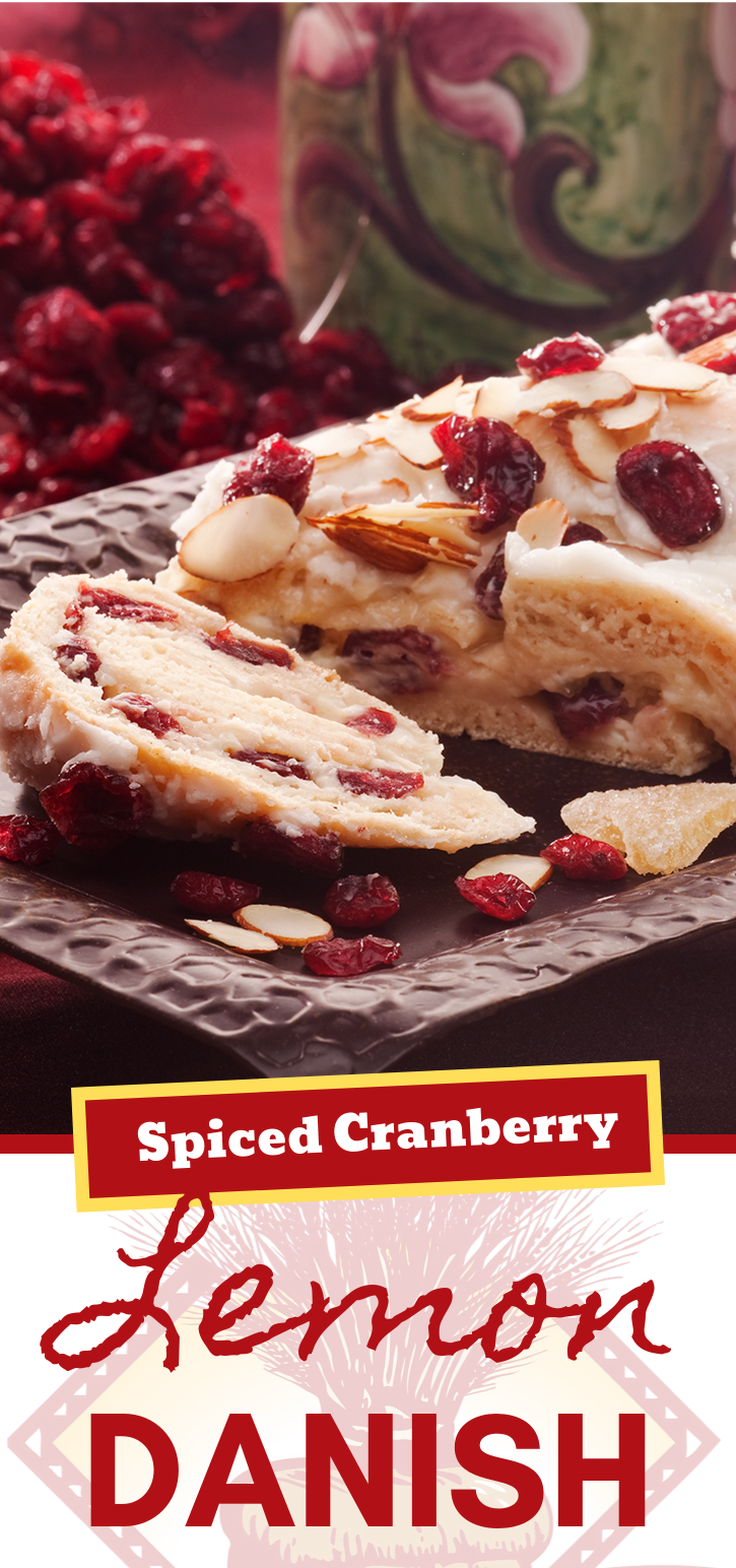 These Spiced Cranberry Lemon Danishes are showstoppers!