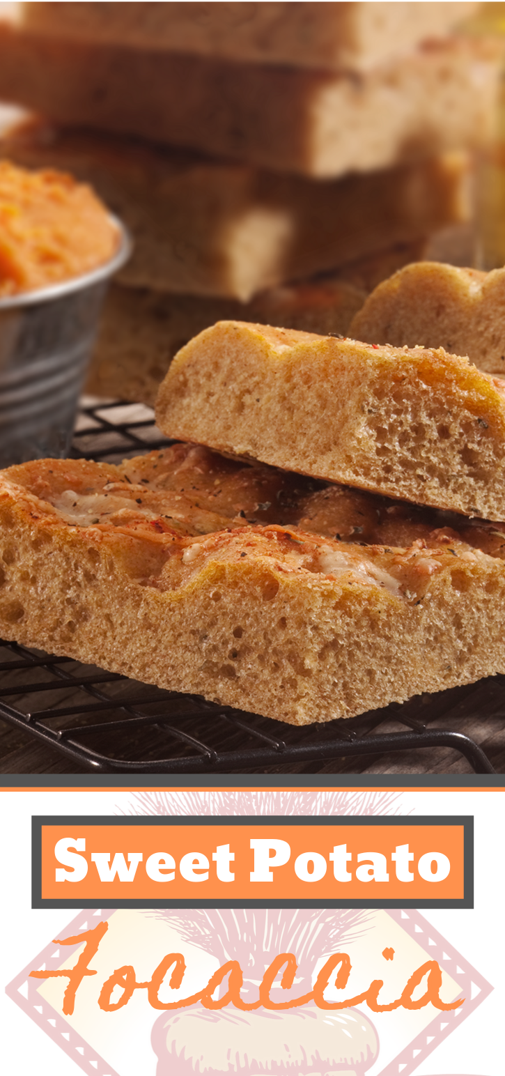 This sweet potato focaccia recipe is a simple focaccia recipe that the family will love!