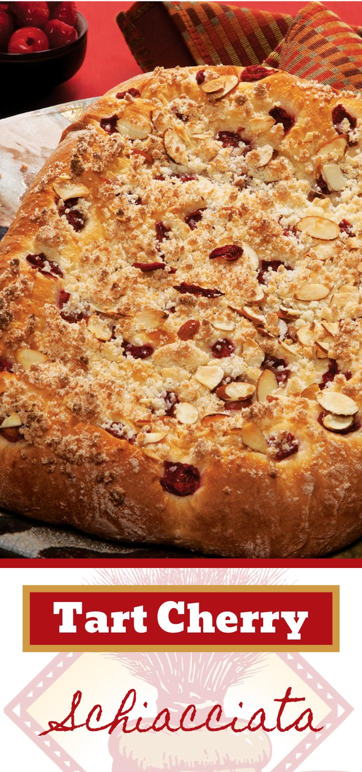 Simple. Tasty. This Tart Cherry Schiacciata is the dream.