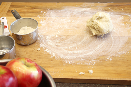 Apple Pie Doughball Cutting Board Pi Day