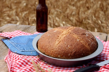 Cracked Wheat and Beer Bread, Kansas Wheat