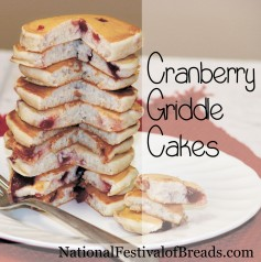 Image: Cranberry Griddle Cakes.