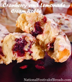 Image: Cranberry and Lemonade Cream Rolls.