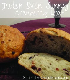 Image: Dutch Oven Sunny Cranberry Loaf.