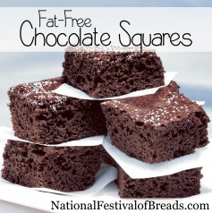 Image: Fat-Free Chocolate Squares.