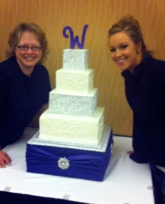 Hurd made the wedding cakes for two of her married daughters (and the cake base!)