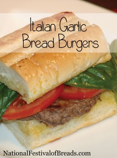 Image: Italian Garlic Bread Burgers.