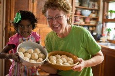 Jane enjoys baking with her adopted granddaughter from India, Nethra. She has been in the U.S. for just three months and loves cooking and baking.