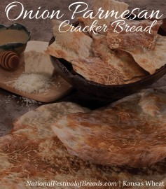 Image: Onion Parmesan Cracker Bread.