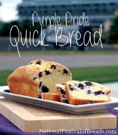Photo: Purple Pride Quick Bread.