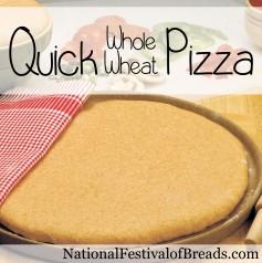 Image: Quick Whole Wheat Pizza.