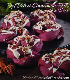 Image: Red Velvet Cinnamon Rolls with a Twist.