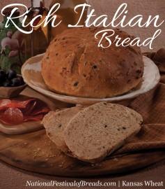 Image: Rich Italian Bread.