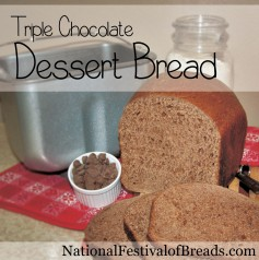 Image: Triple Chocolate Dessert Bread.