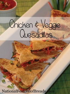 Image: Chicken & Veggie Quesadillas.