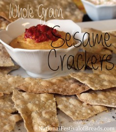Photo: Whole Grain Sesame Crackers.